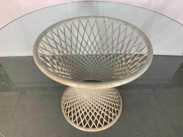Woven Rattan Sculptural Dining Table top view