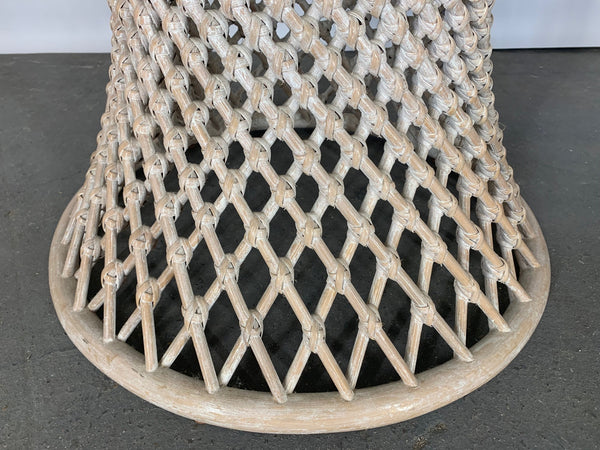 Woven Rattan Sculptural Dining Table lower view