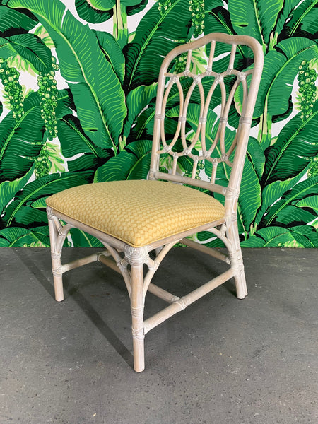 Rattan Loop Back Dining Chairs by Lexington side view