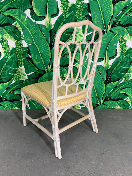 Rattan Loop Back Dining Chairs by Lexington rear view