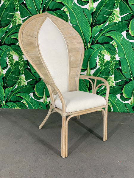 Rattan Fan Back Cobra Chair