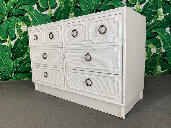 Faux Bamboo Double Dresser by Omega front view