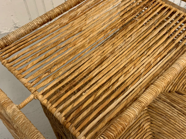 Rattan Rope Wrapped Nesting Tables