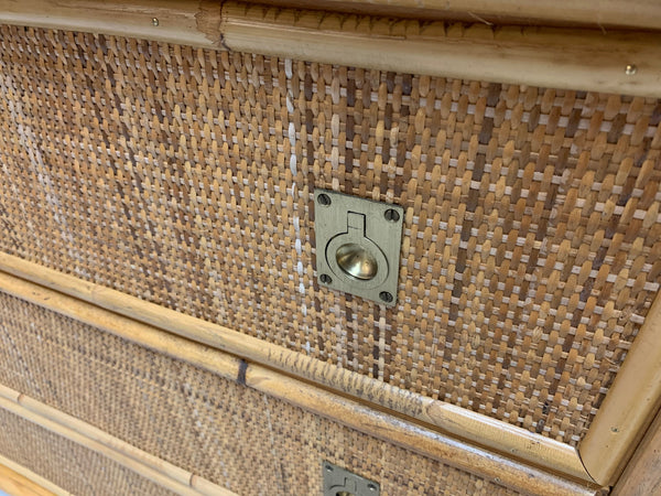 Bamboo and Woven Rattan Double Dresser