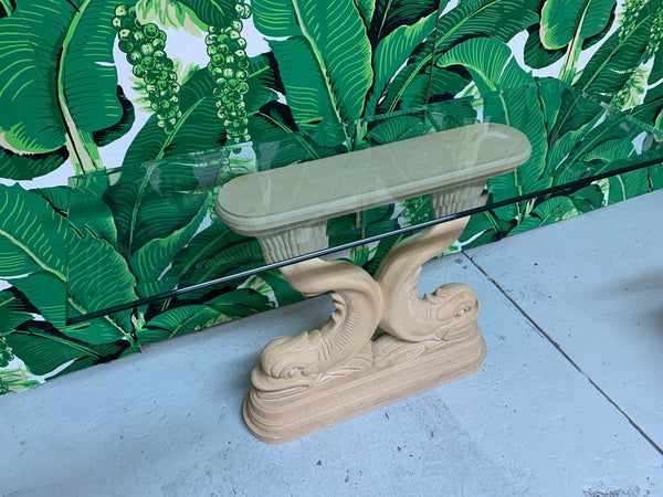 Asian Dolphin Console Table top view