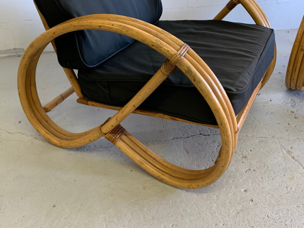 Paul Frankl Style Pretzel Chairs, a Pair close up