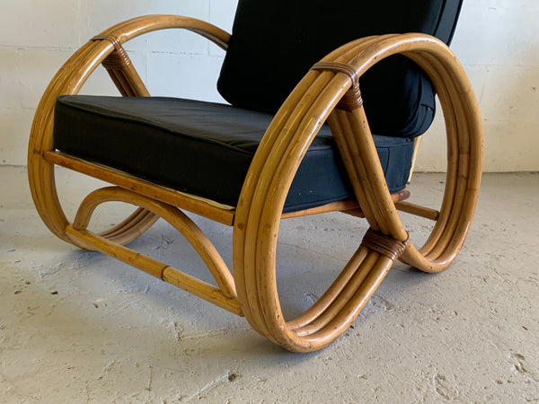 Paul Frankl Style Pretzel Chairs, a Pair front view