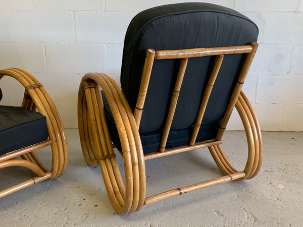 Paul Frankl Style Pretzel Chairs, a Pair rear view