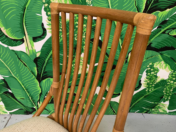 Rattan Bentwood Dining Chairs, Set of 6