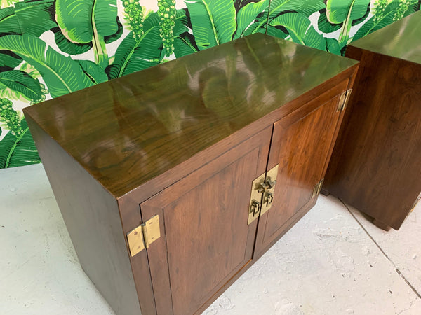Henredon Double Door Cabinets or End Tables, Set of Two