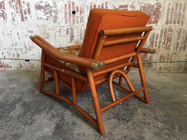 Vintage Ficks Reed Bamboo Lounge Chair