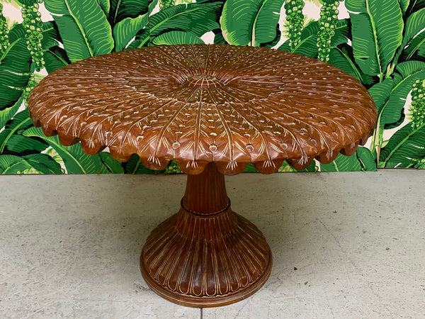 Hand Carved Venetian Grotto Table top view