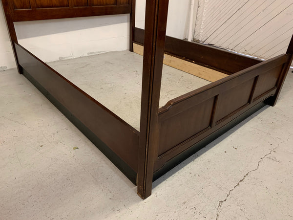 Asian Chinoiserie Queen Size Opium Canopy Bed by Bernhardt lower view