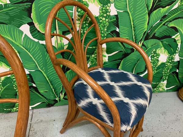 Vintage Rattan Dining Chairs, Set of 4
