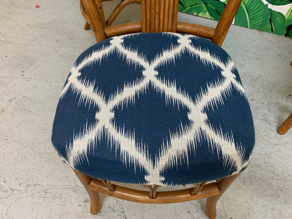 Vintage Rattan Dining Chairs, Set of 4 lower view
