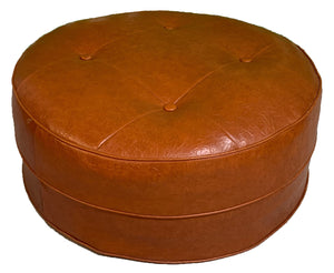 Mid Century Round Hassock or Footstool