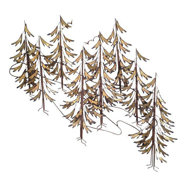 Curtis Jere 1982 Alpine Trees Wall Sculpture