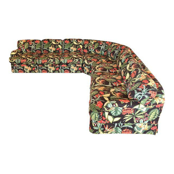 Drexel Heritage Tropical Print Sectional Sofa