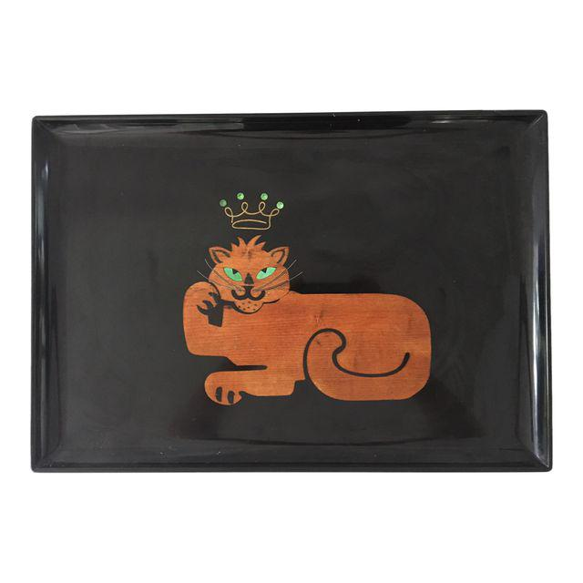 Couroc of Monterey Cat Serving Tray