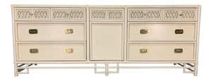 Asian Chinoiserie Style Bamboo Dresser