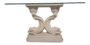 Asian Dolphin Console Table front view