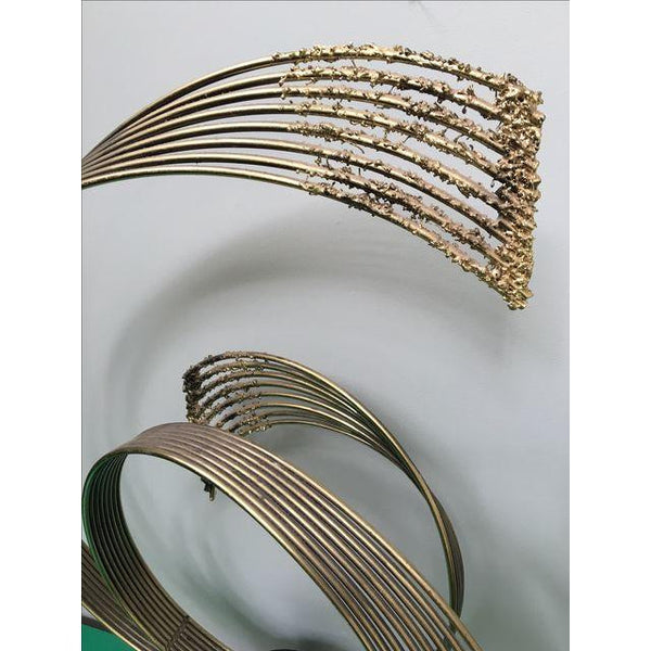 1987 Curtis Jere Spray Brass Table Sculpture
