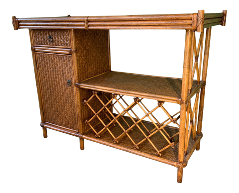 Bamboo and Rattan Dry Bar