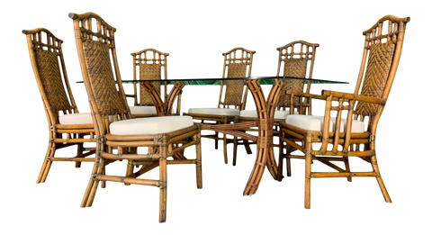 Bamboo Pagoda Dining Set by McGuire