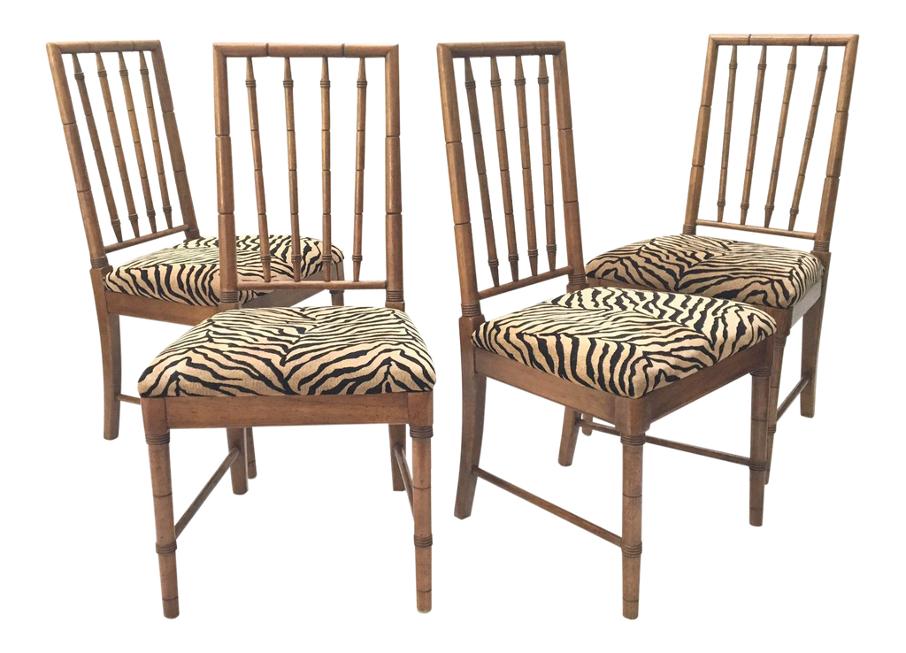 bamboo dining chairs. Bamboo Tiger Print Dining Chairs R