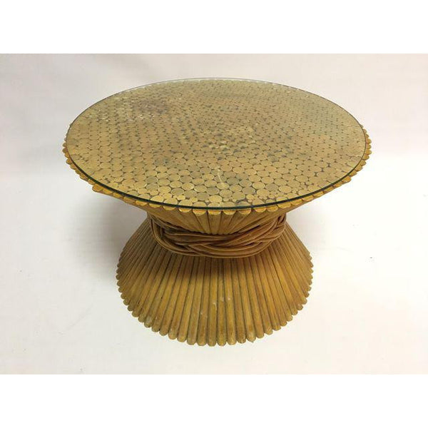McGuire Sheaf of Wheat Side Table