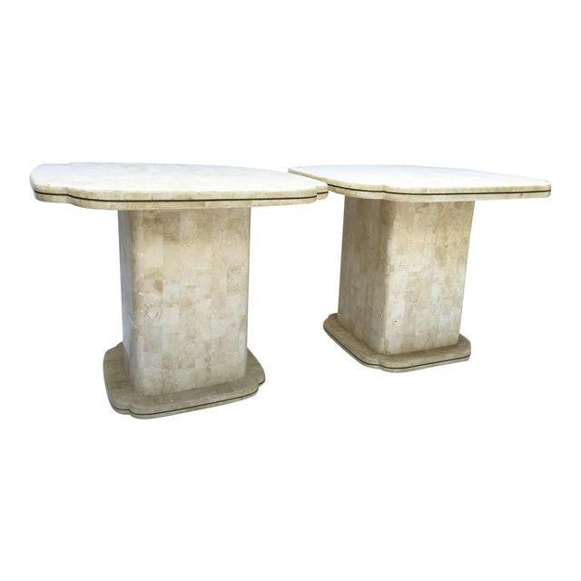 Pair of Maitland Smith Tessellated Fossil End Tables