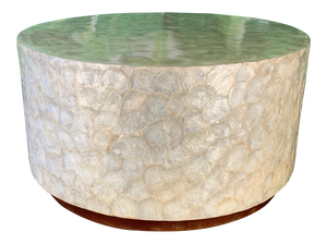 Capiz Shell Round Coffee Table