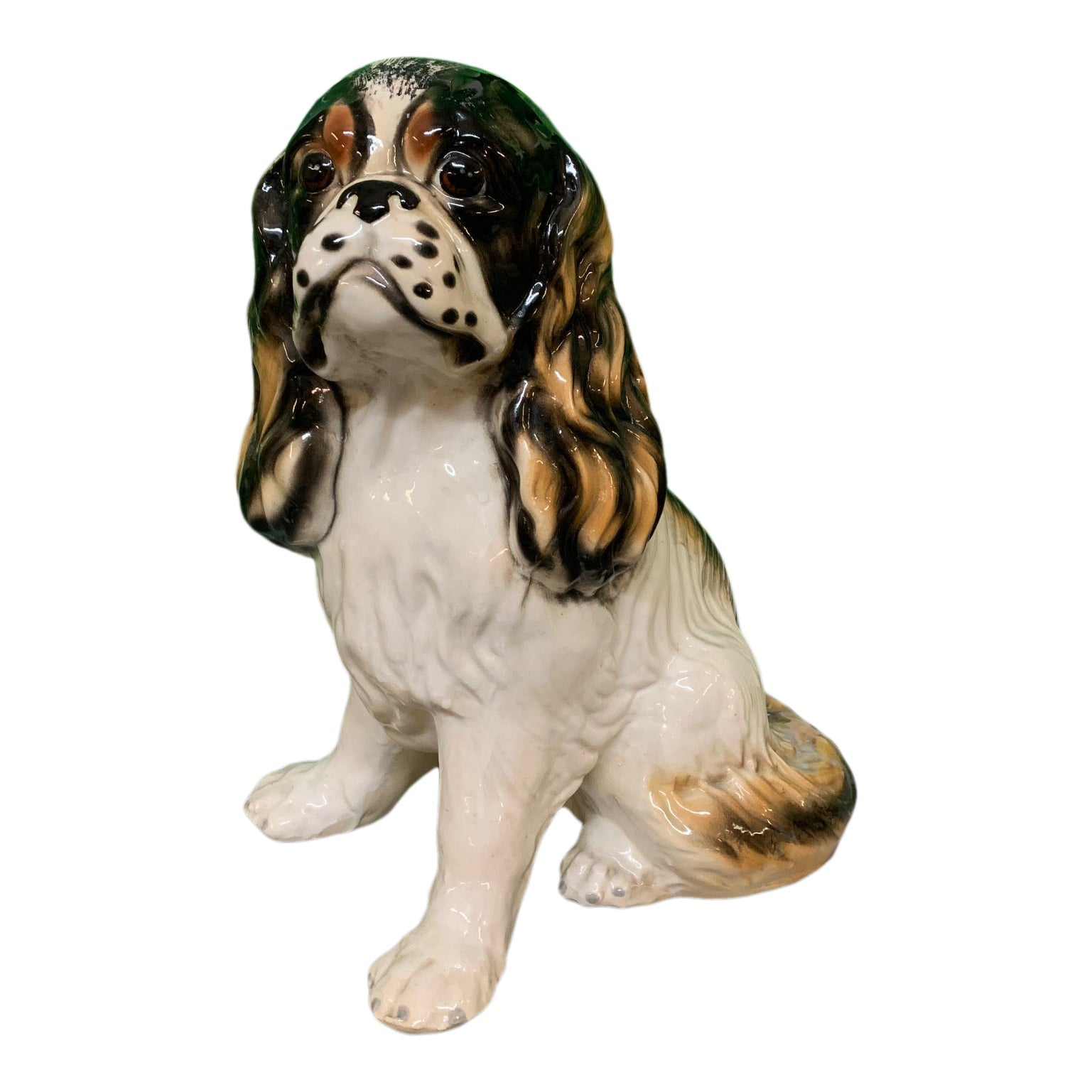 Ceramic King Charles Spaniel Dog Statue