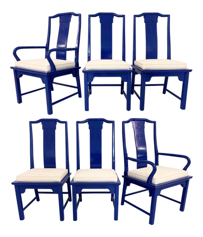 Chin Hua Asian Dining Chairs by Raymond Sabota for Century Furniture