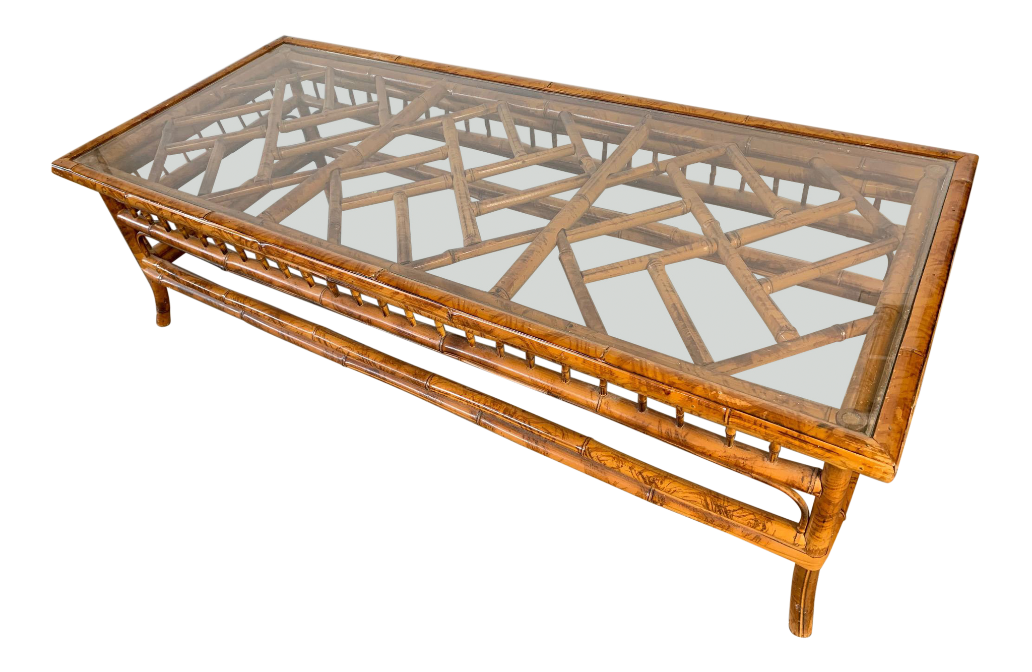 Chinoiserie Tiger Bamboo Coffee Table