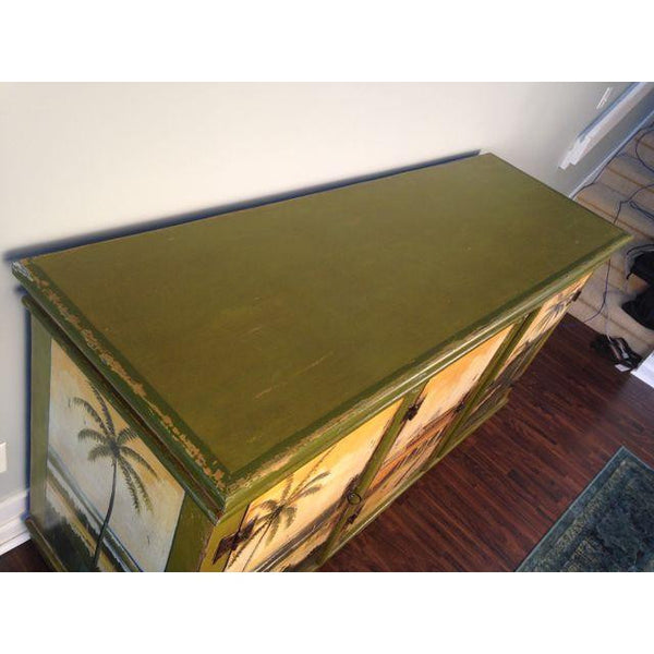 Artiero Brazil Hand-Painted Credenza top view