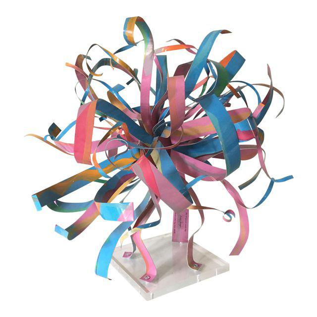 Dorothy Gillespie Starburst Metal Art Sculpture