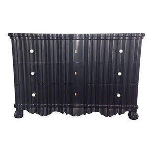 Portuguese Rococo Ebonized 3-Drawer Commode