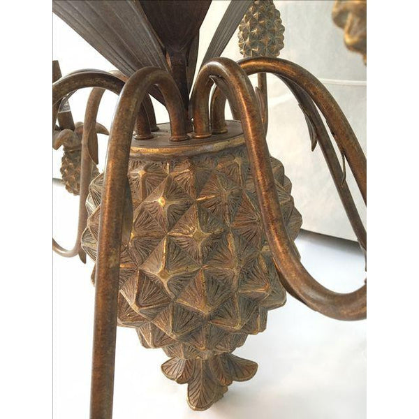 Metal Pineapple Nine Arm Chandelier