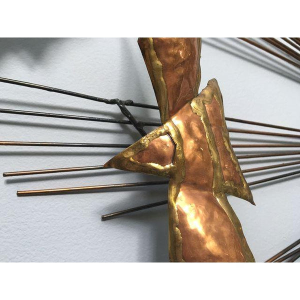 1970's Metal Birds Wall Sculpture