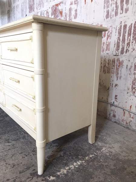 Faux Bamboo Triple Dresser by Thomasville