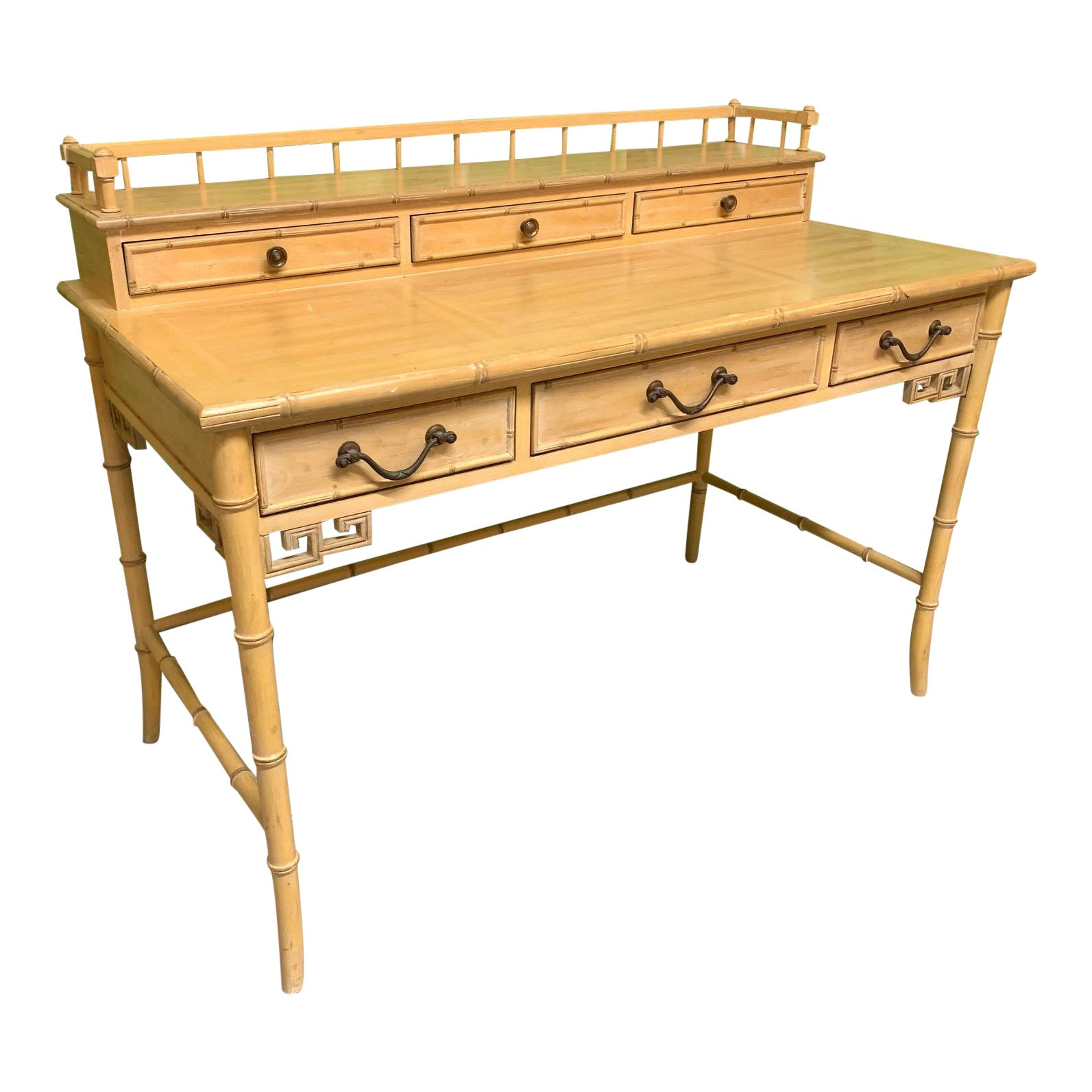 Faux Bamboo Writing Desk by Raymond Sobota for Century Furniture