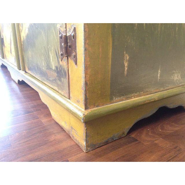 Artiero Brazil Hand-Painted Credenza base close up
