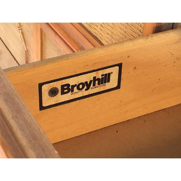 Broyhill Caned Rattan and Faux Bamboo Dresser logo