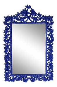 Hand Carved Floral Framed Mirror