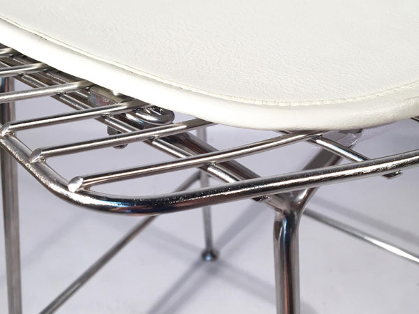 Set of 5 Harry Bertoia for Knoll Chrome Wire Bar Stools