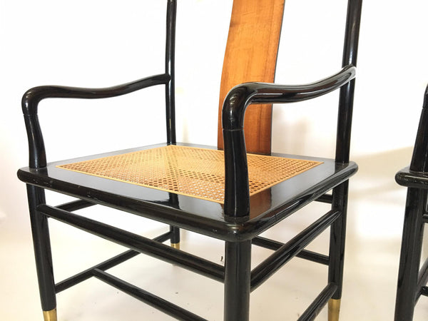 Henredon Asian Chinoiserie Elan Koa Wood Dining chair arms