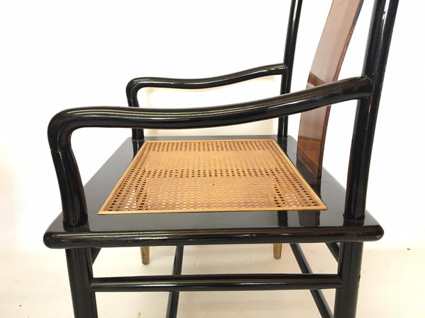 Henredon Asian Chinoiserie Elan Koa Wood Dining arm chair side view