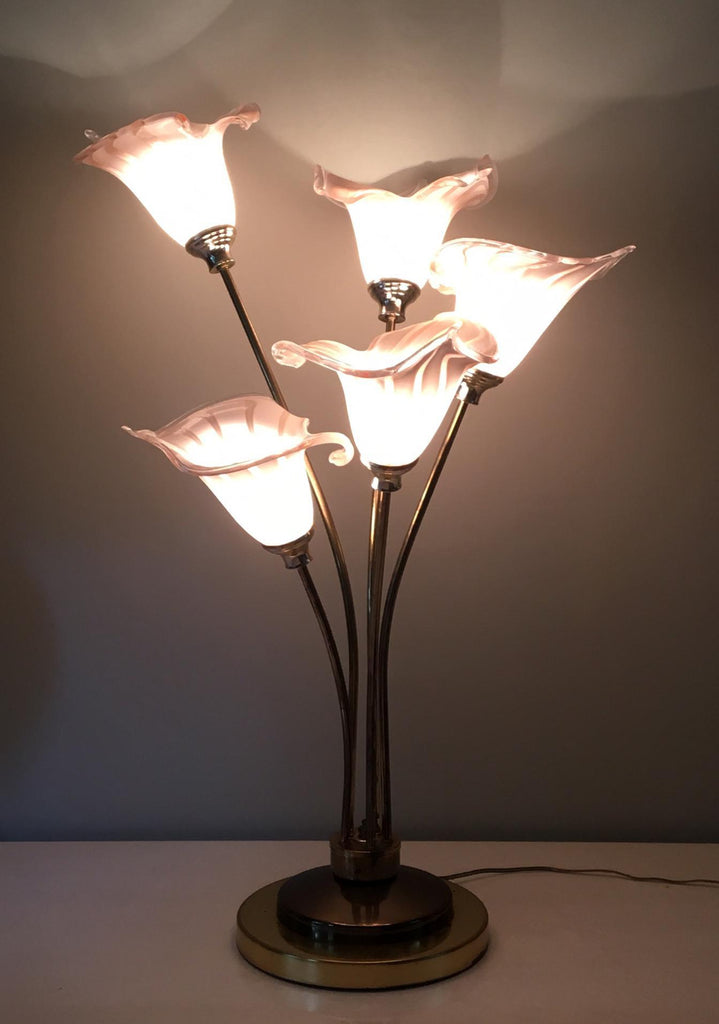 Italian Murano Handblown Calla Lilies Table Lamp Marjorie And Marjorie
