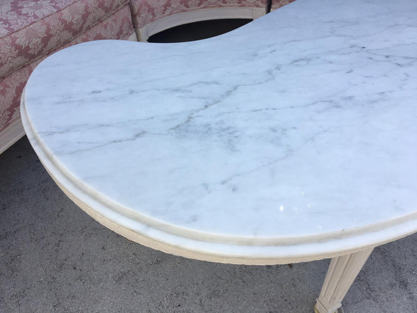 Italian Renaissance Style Marble Top Coffee Table top view